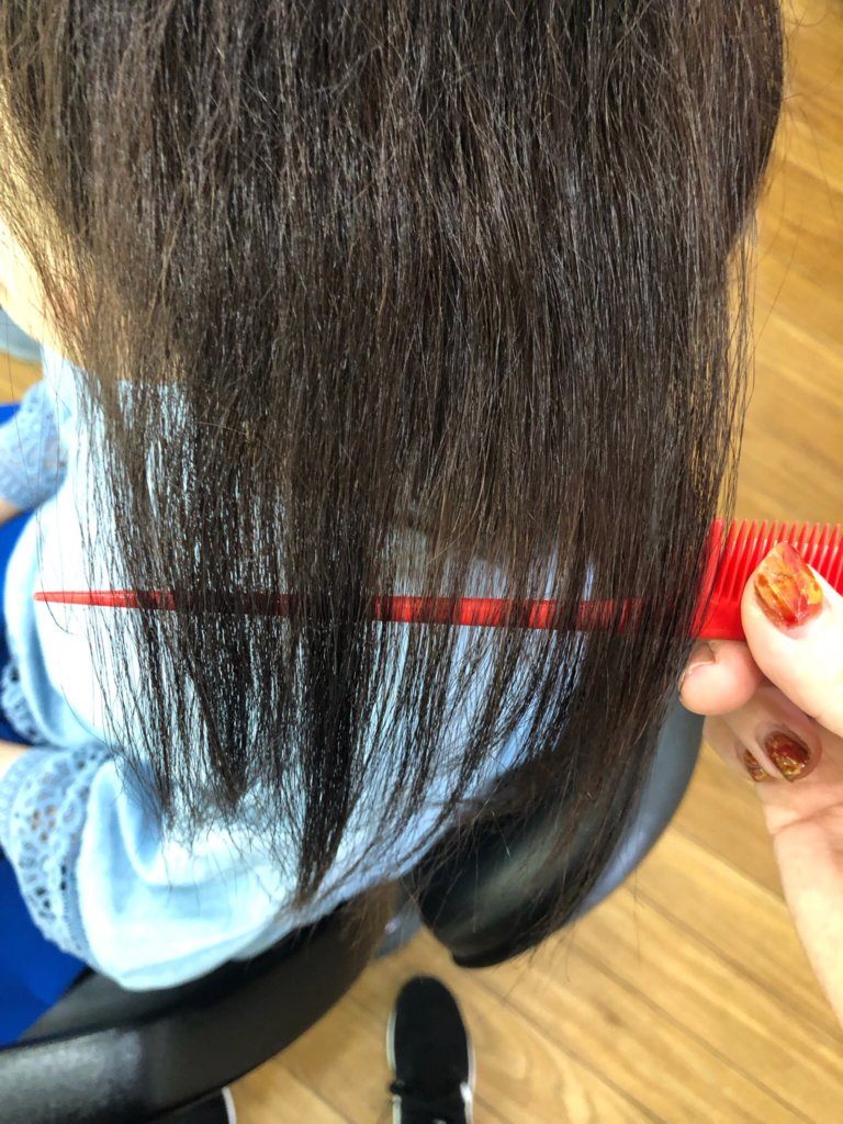 根元2cmからビビリ毛の修正