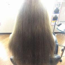 ビビリ毛の直しの修正、縮毛矯正の失敗で3分の2がビビリ!
